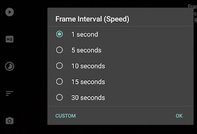 Set frame internval