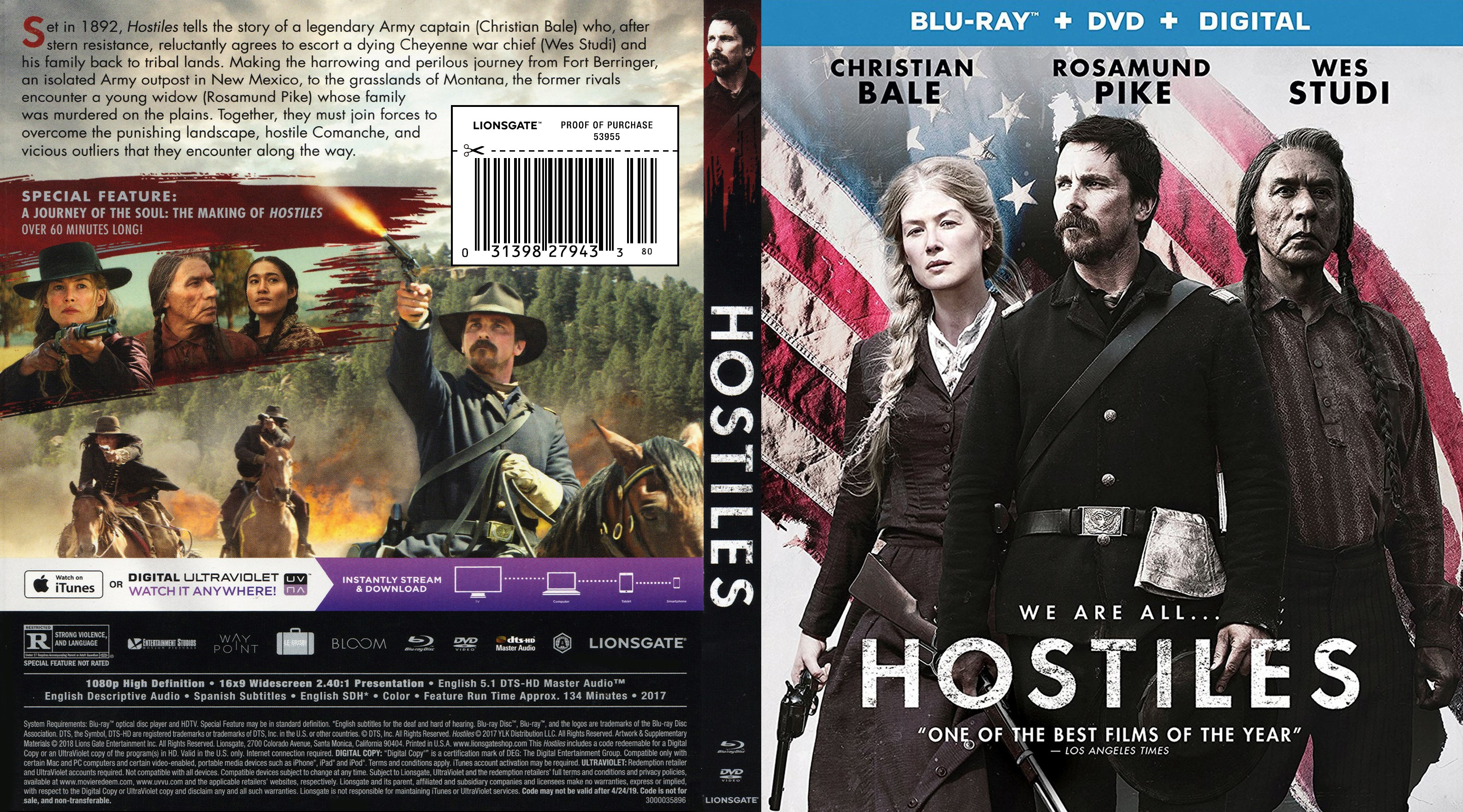 Hostiles Bluray Scan Cover Cover Addict Freecovers