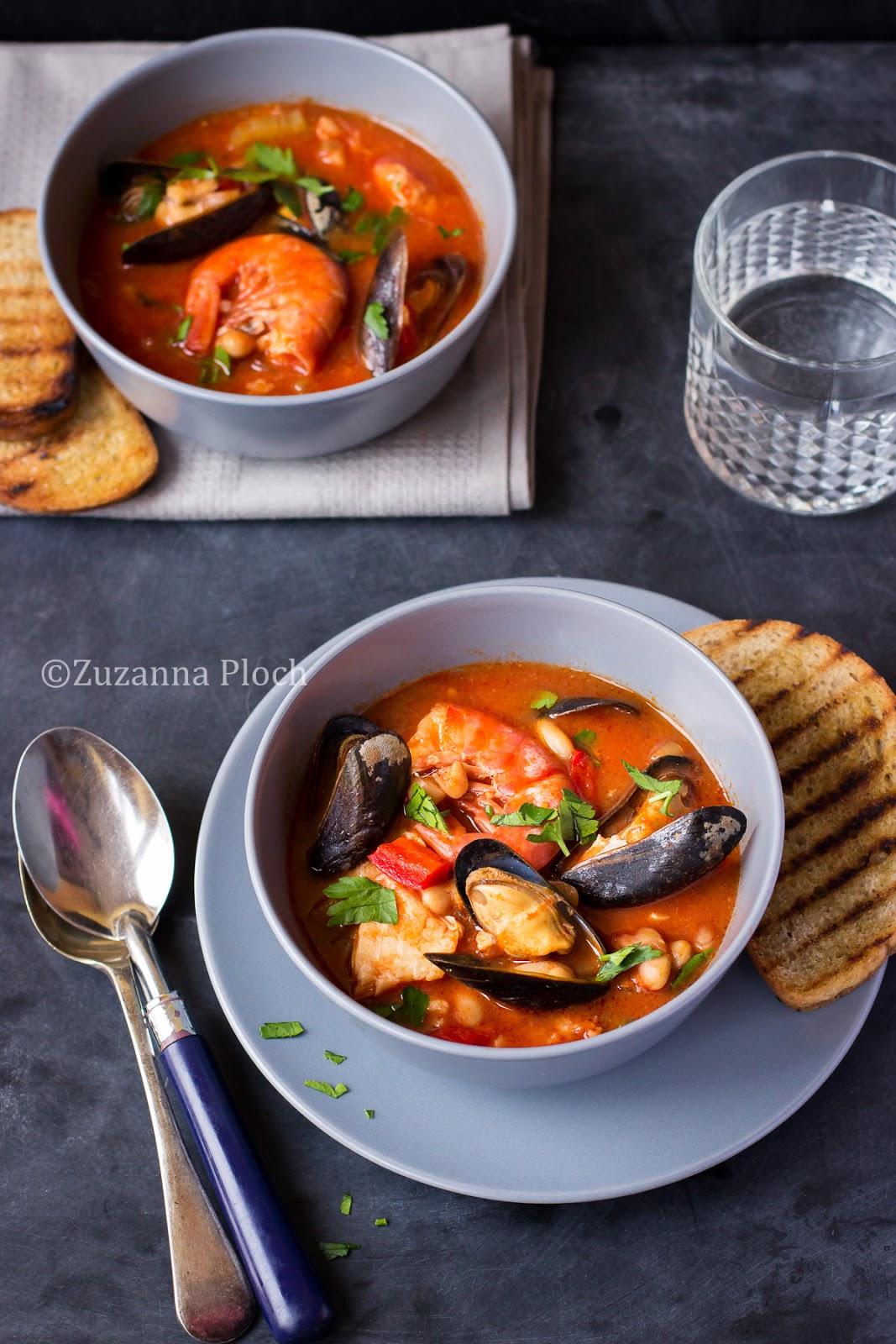 Seafood soup - Food photography by Zuzanna Ploch, fotografia kulinarna