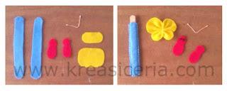 Cara membuat pembatas buku dari kain flanel bentuk kupu-kupu