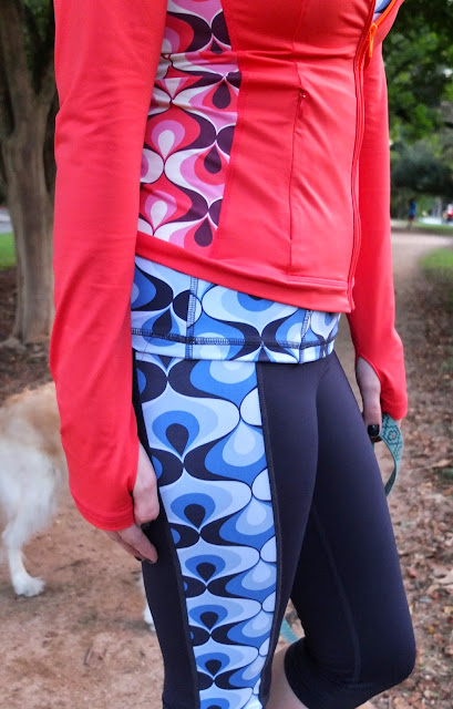 Boden Activewear, Boden Yoga, Boden On the Go, Boden Red Jacket, Boden Active Wear, Boden Leggings, Boden Blue Leggings, the Lone Star Looking Glass