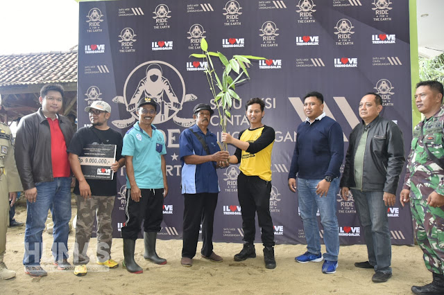 Cak Ipin Ajak Para Rider Kompensasi Gas Buang dengan Donasi Rumpun Bambu
