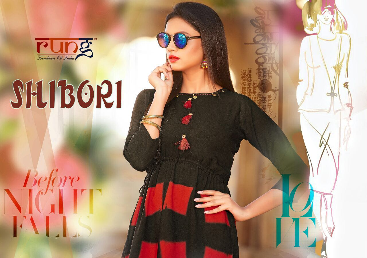 SHIBORI  New Arrival Heavy Rayon Kurtis Collection