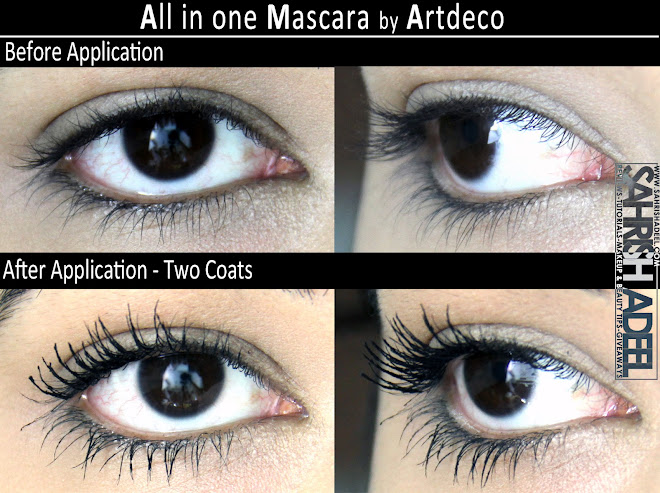 all in one mascara in 39 black 39 by artdeco review swatch and before after sahrish adeel. Black Bedroom Furniture Sets. Home Design Ideas