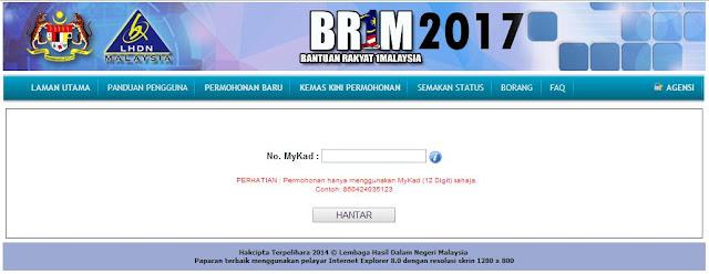 Semakan Status BR1M 2017