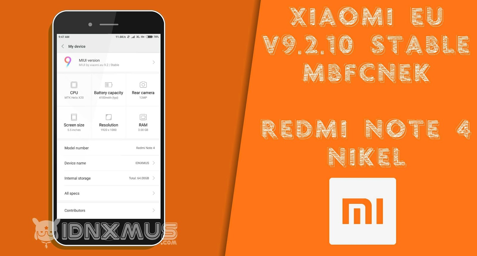 ROM Xiaomi EU Stabil V9.2.1.0 Nikel