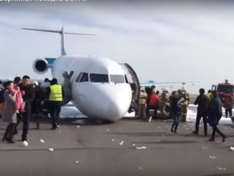 Аварийная посадка Fokker-100 в Астане