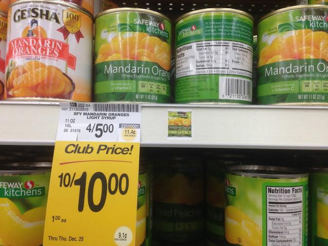 Mandarin Oranges, Safeway Kitchens - Safeway