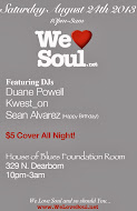 Sat 8/24: We Love Soul @ House of Blues Foundation Room