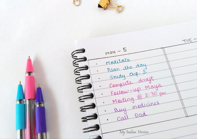 color-code-bullet-journal-time-wise-myindianversion-blog