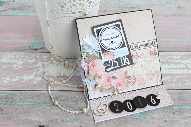 kartka ślubna easel card