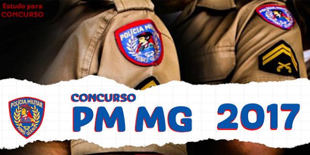 apostila pmmg policia milita mg 2017