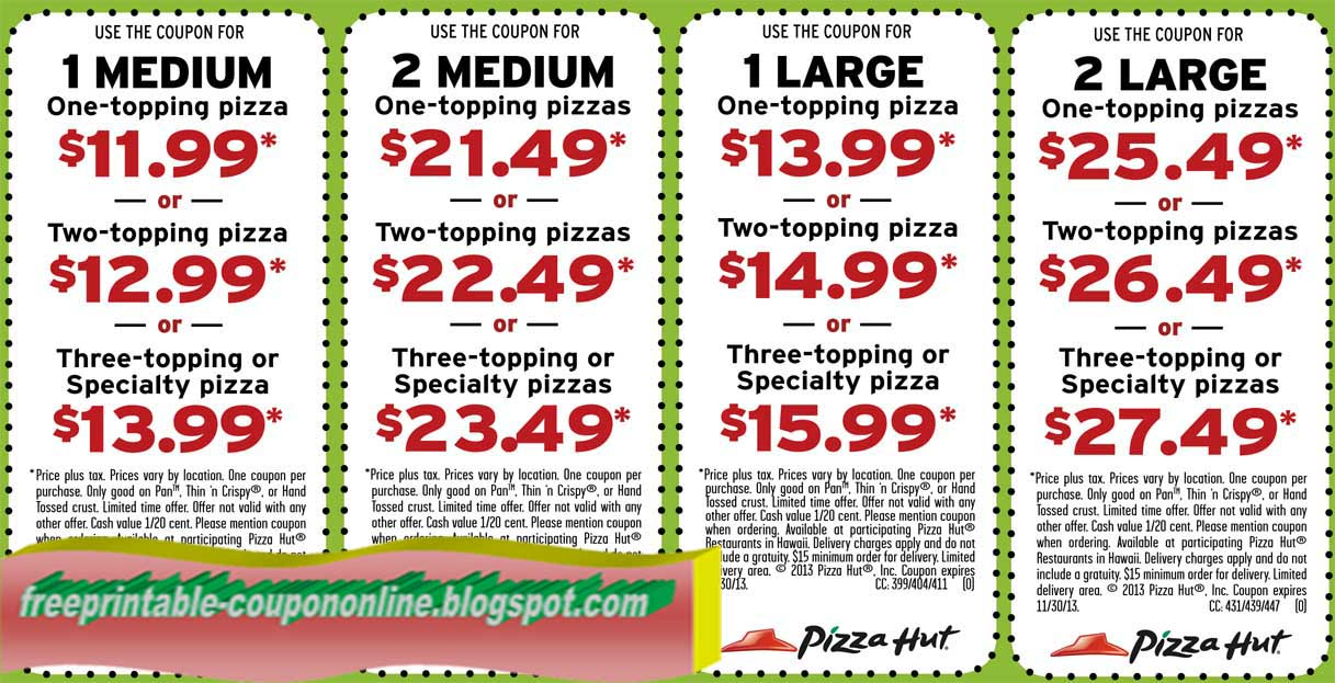 Piza hut coupon code