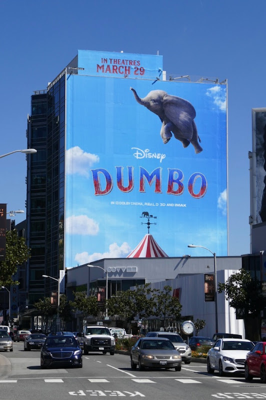 Dumbo 2019 movie billboard Sunset Strip