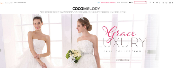 Sexy Backless Wedding Dresses from Coco Melody