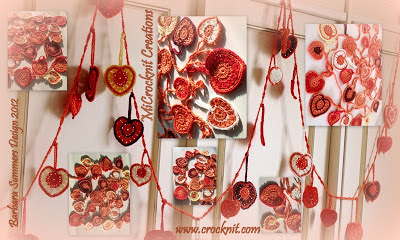 free crochet patterns, hearts, how to crochet, bunting, garlands,