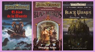portadas del libro El dios de la muerte, de Douglas Niles