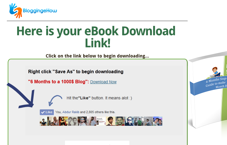 download page facebook likes funnel