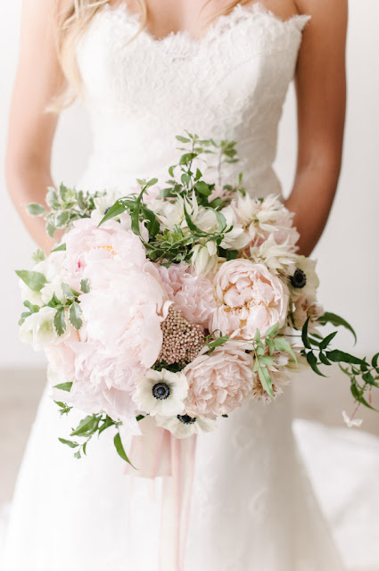 Blush-Pink-Bouquet-White-Wedding-Dress-Style-me-Pretty