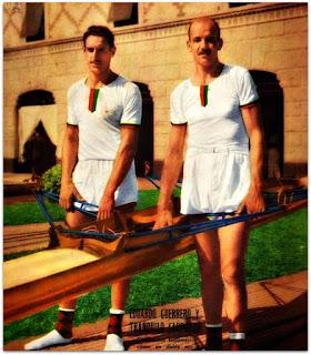 Eduardo Guerrero (esquerda) e Tranquilo Capozzo - Campeões Olímpicos de Remo