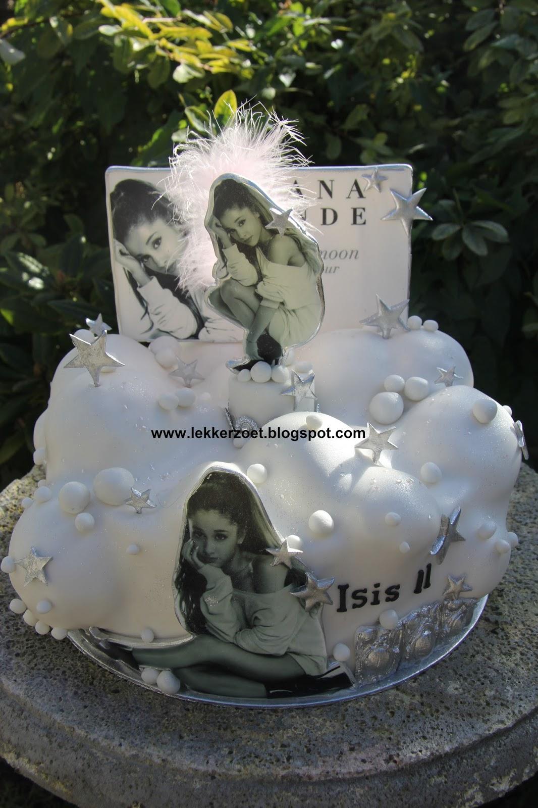 taart 11 lekker zoet: Ariana Grande taart voor Isis 11 jaar taart 11