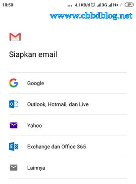 buat email dari hp langsung jadi