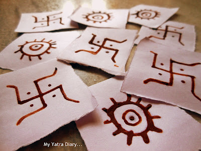 Raksha Bandhan celebration - Soouns of swastik symbols