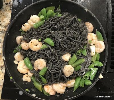 Shrimp and Squid Ink Spaghetti