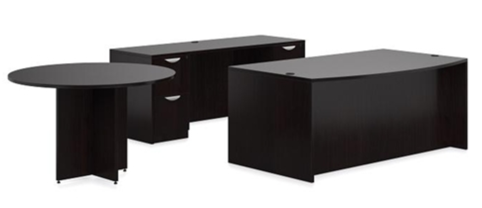 Offices To Go American Espresso Desk Set