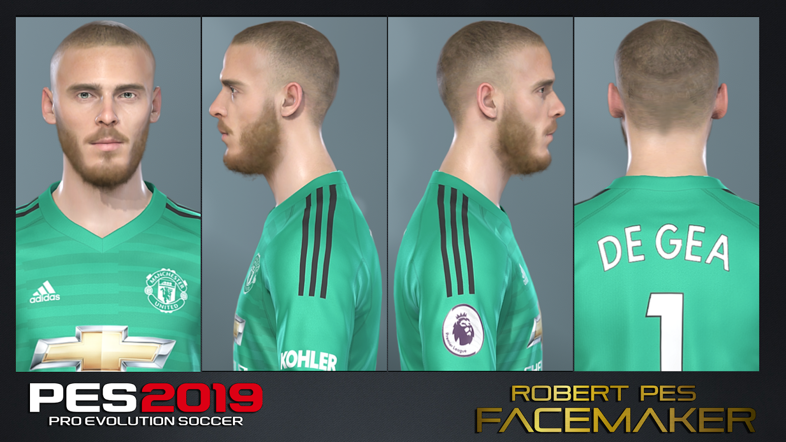 FACE De Gea PES 2019 / PES 2018 By RobertPes Facemaker