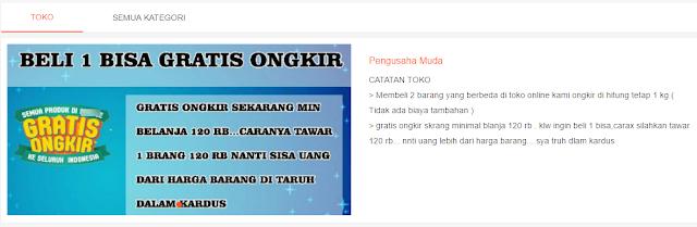 Trik free ongkir