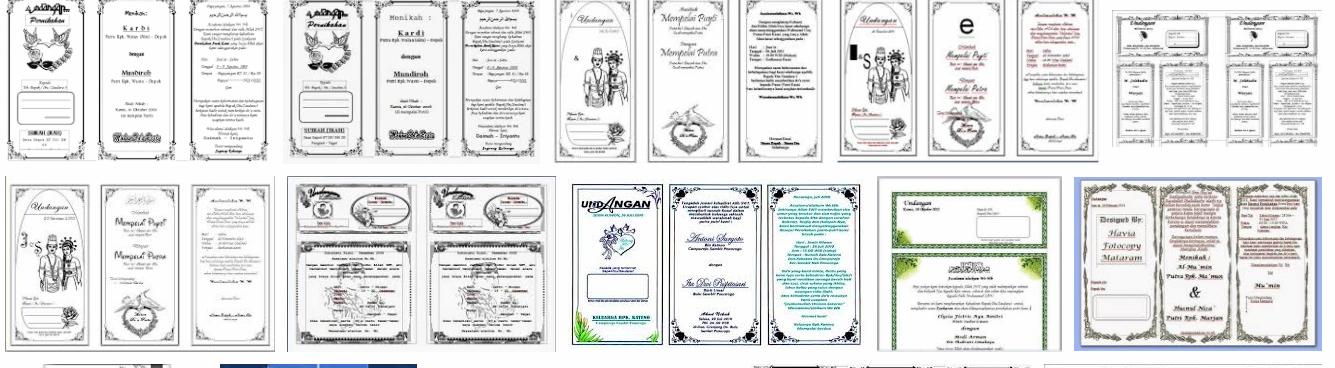 Koleksi Undangan Untuk Acara Tasyakuran Aqiqah Khitanan Dan Lain