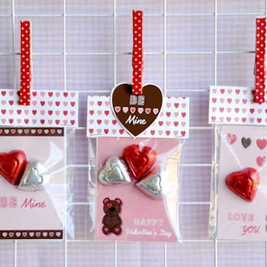 DIY Valentine's Party Favors Candy Bags