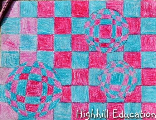 optical illusion Sphere art for kids