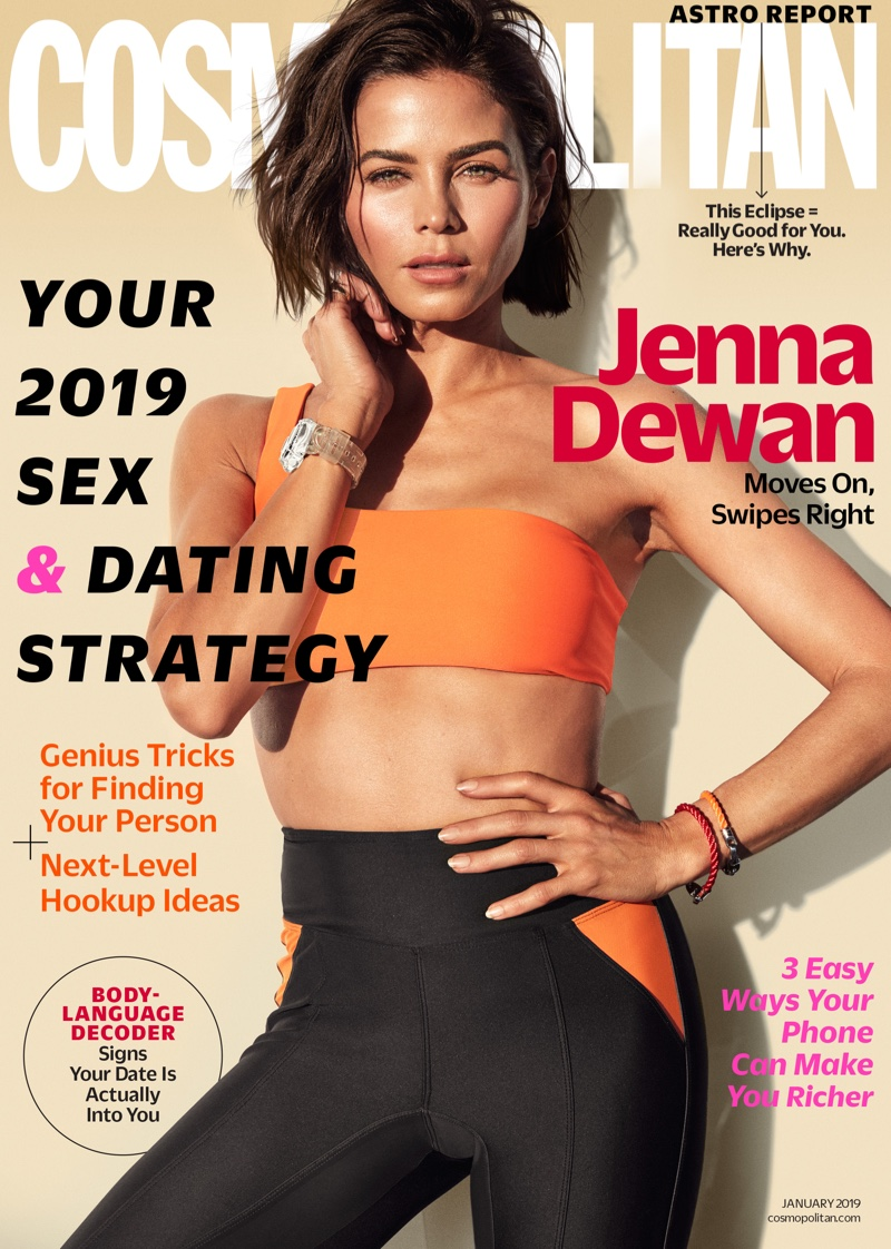 Jenna Dewan on Cosmopolitan Magazine January 2019 Cover