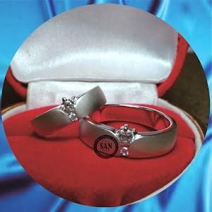 cincin kawin perak p635