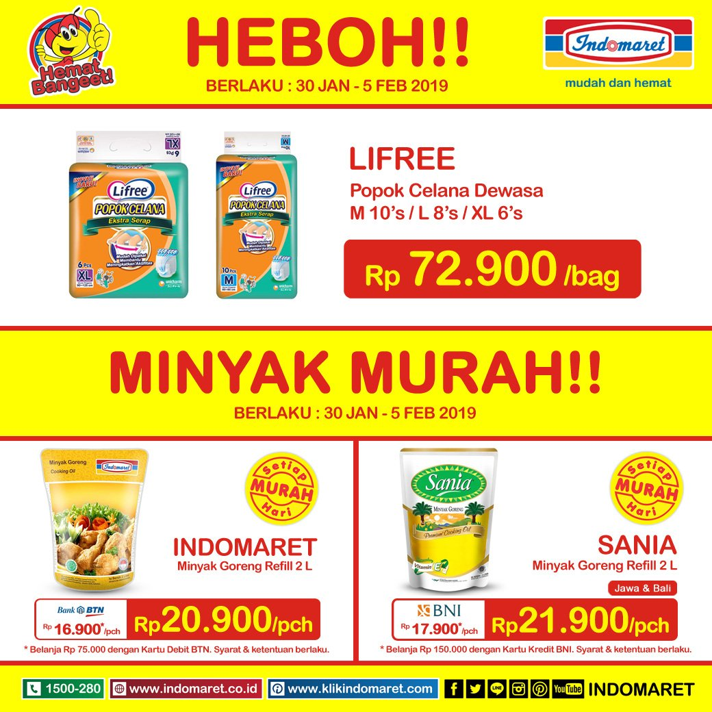 #Indomaret - #Promo Harga HEBOH Periode 30 Jan - 05 Feb 2019