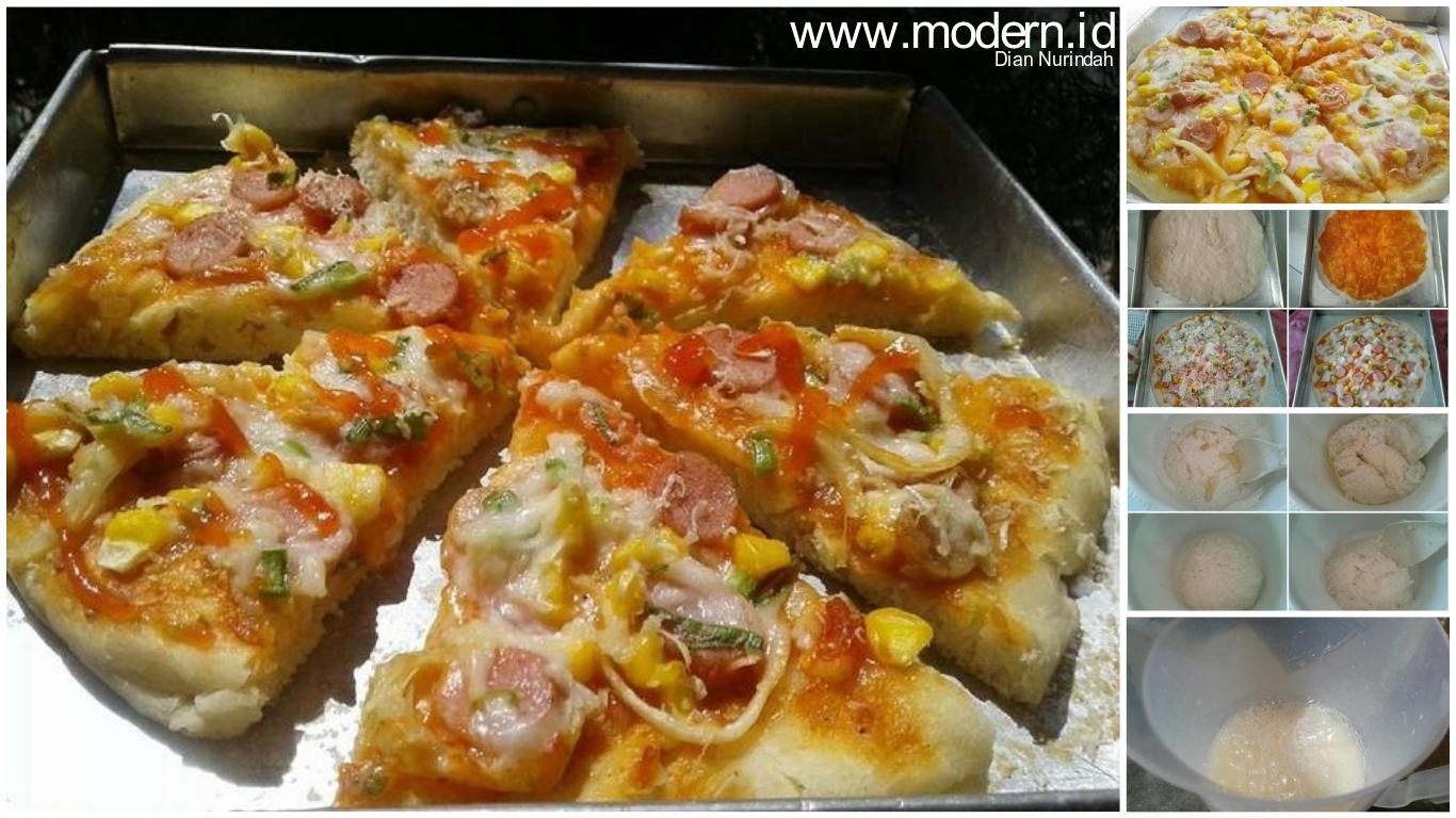 Resep Pizza Tanpa Ulen Cukup Pakai Teflon Loh Hasilnya Empuk Dan Enak Modern Id