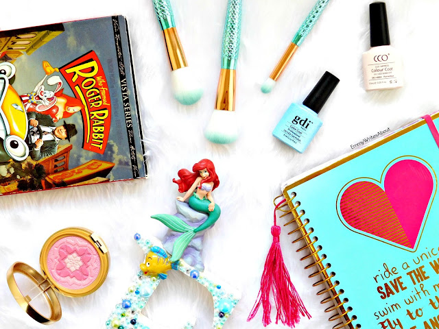 disney, little mermaid, stationary, planners, mermaid brushes