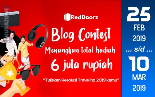 Kompetisi Blog - RedDoorz Berhadiah Uang Tunai dan Free Stay Penginapan