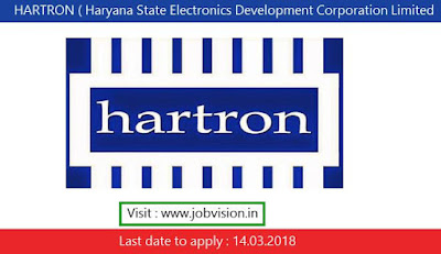 HARTRON ( Haryana State Electronics Development Corporation Limited  ) Recruitment 2018
