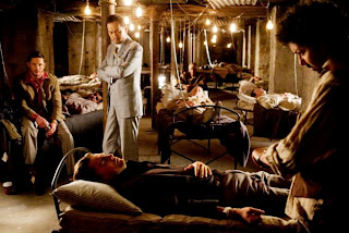 Ken Watanabe as Saitu, Tom Hardy as Bames, Leonardo DiCaprio as Cobb, Inception, Directed by Christopher Nolan