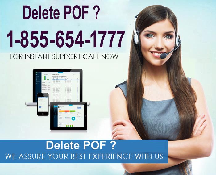 Delete POF ? Contact Now 1-855-654-1777