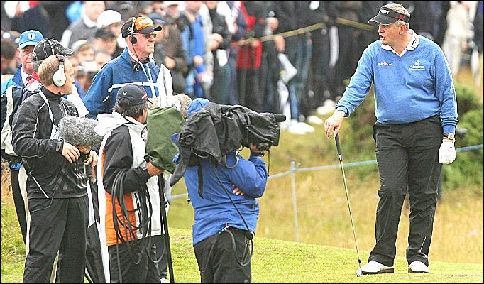 Colin Montgomerie angry