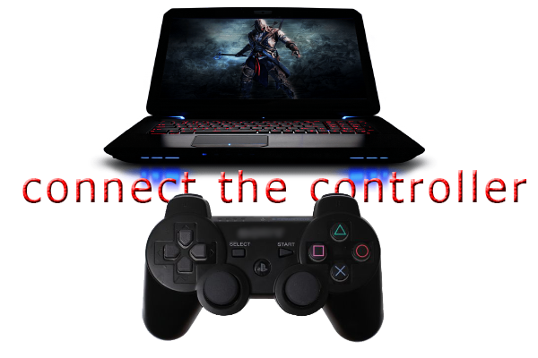 How to connect the controller with your computer-laptop-pc And started playing