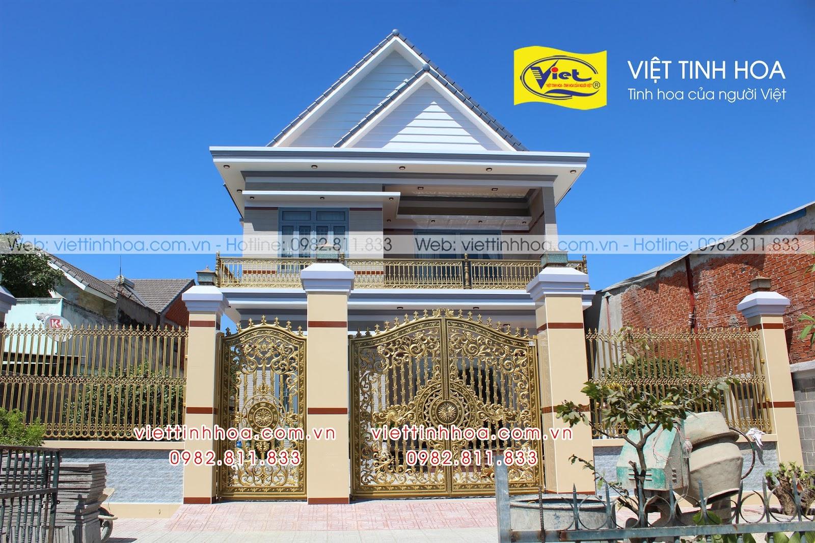 Cổng Nhôm Đúc Phú Riềng