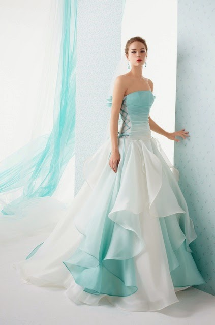 miniboutiq: MultiColored Wedding Dress For The Offbeat Wedding ...