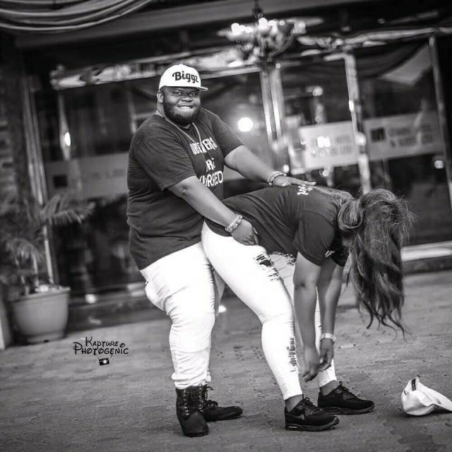 Pre-wedding Photos of a Very Fat Nigerian Man and his Buttylicious Fiance is Breaking the Internet.