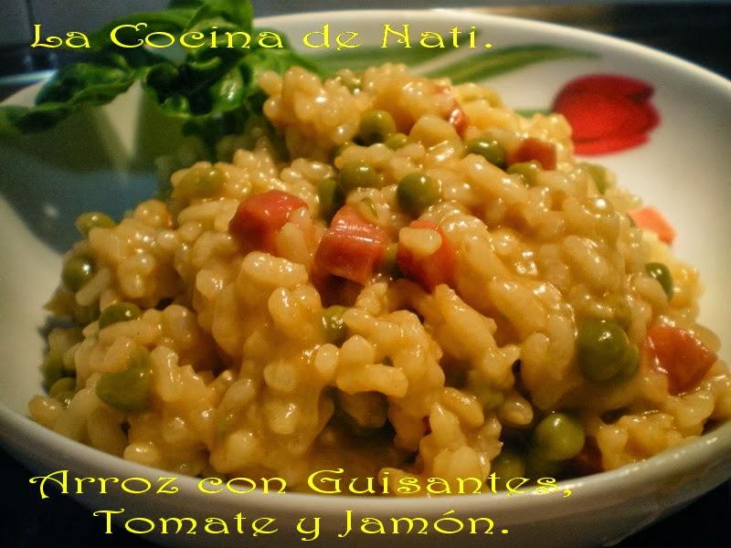 La cocina de nati arroz con guisantes tomates y jam n - Arroz con alcachofas y jamon ...