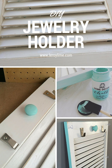 DIY Jewelry Holder - Upcycled Door - LeroyLime